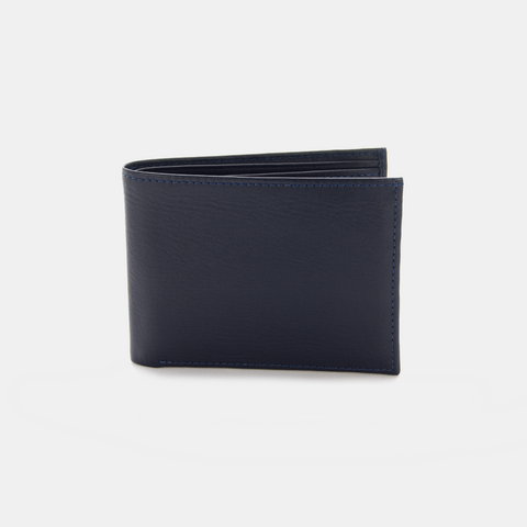 Latin White London Maddox Blue Wallet - The Stylish Man