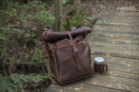 Grant Leather Runksack Backpack - The Stylish Man