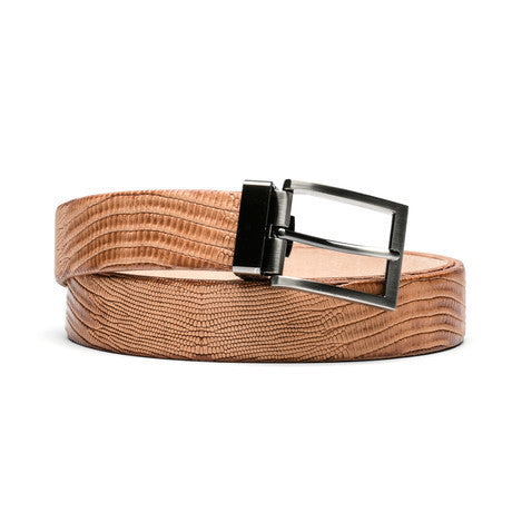 Crocodile Embossed Belt - The Stylish Man
