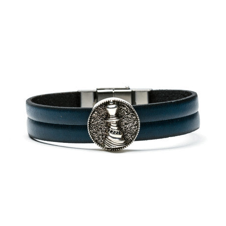 Bishop Medallion & Leather Bracelet - The Stylish Man