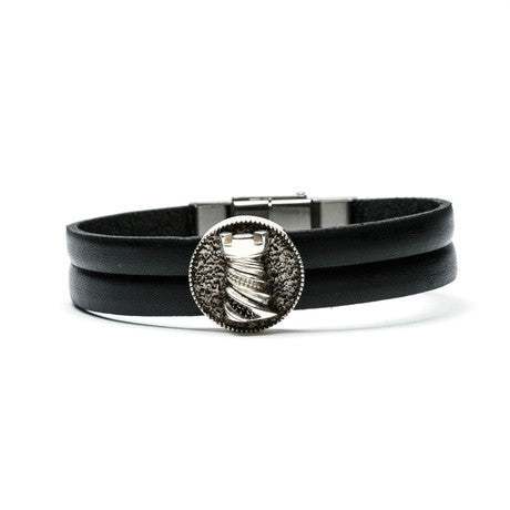 Rook Medallion & Leather Bracelet - The Stylish Man