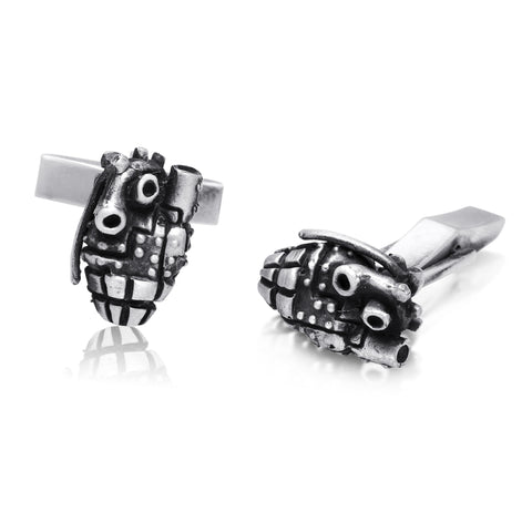Anatomical Heart Grenade Cufflinks - The Stylish Man