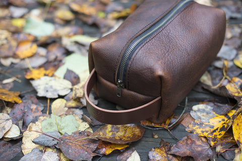Leather Dopp Kit - The Stylish Man