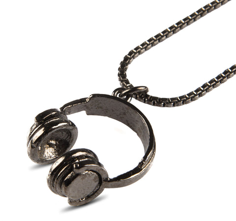 Cartography Hey Mr.DJ Necklace Hematite - The Stylish Man