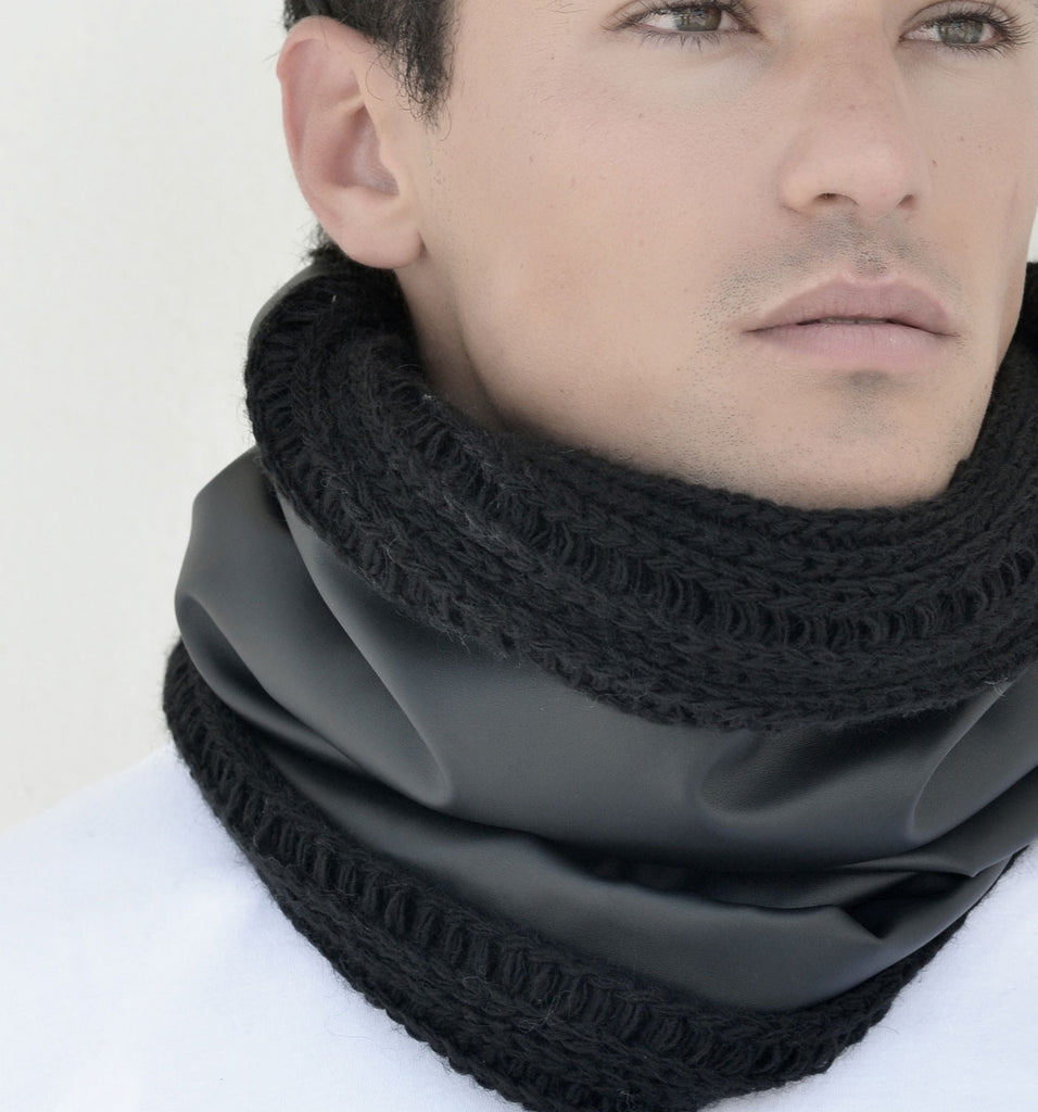 SNOOD WOOL / COTTON LEATHER