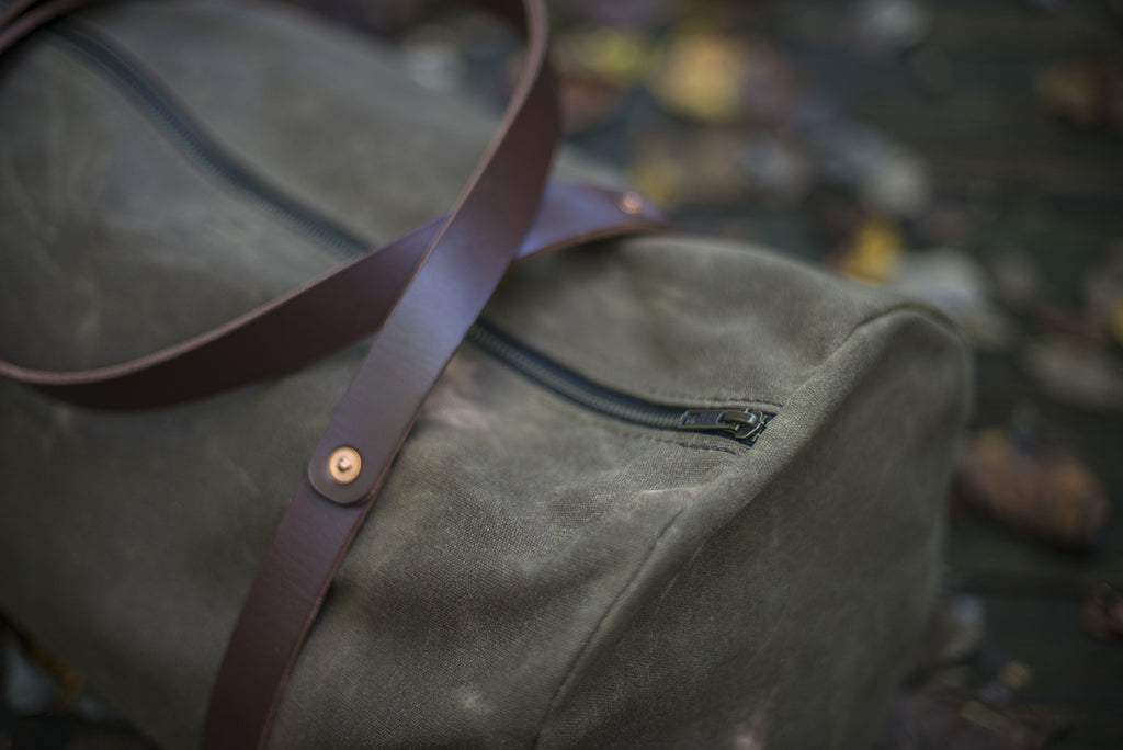 William Duffle Bag Waxed Canvas - The Stylish Man