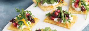 Ricotta Crisps With Pomegranate Salsa