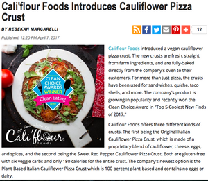 Grocery Headquarters: Cali'flour Foods Introduces Cauliflower Pizza Crust