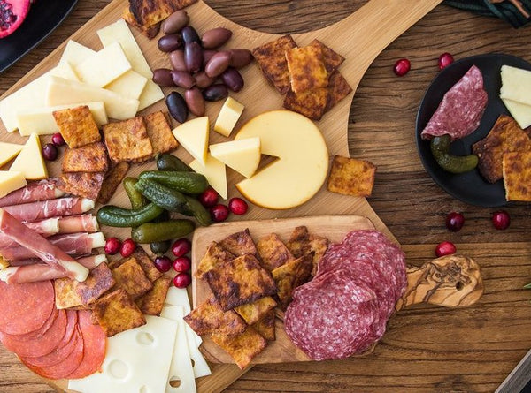 Cali'flour Crisps and Cheese Board