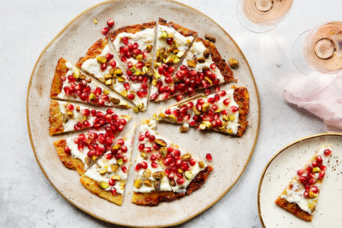 Pistachio and Cardamom Dessert Pizza