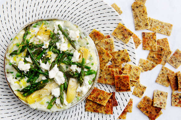 Herbed Goat Cheese Queso and Cali'Crisps