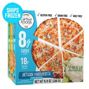 3 pack variety frozen cauliflower pizza
