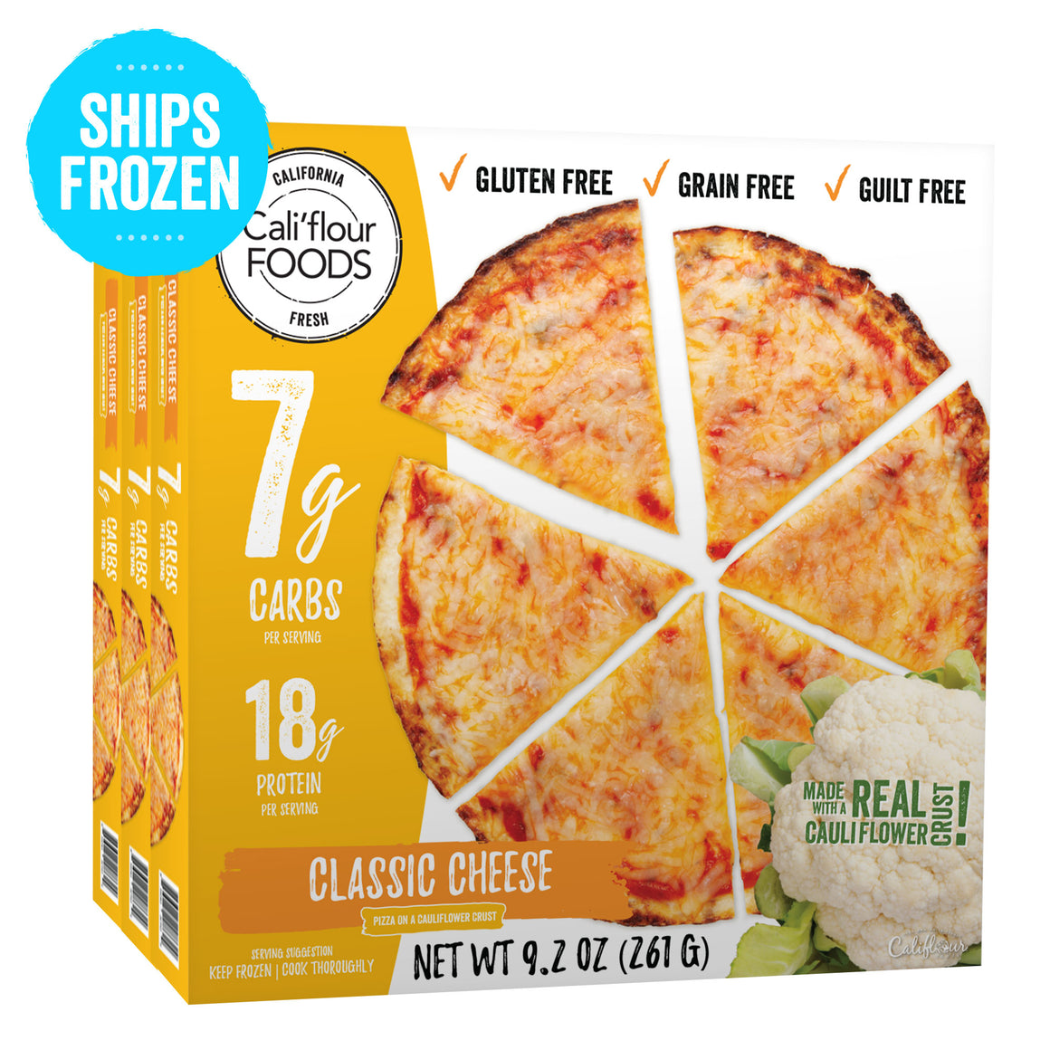 3 pack classic cheese frozen pizza cauliflower crust