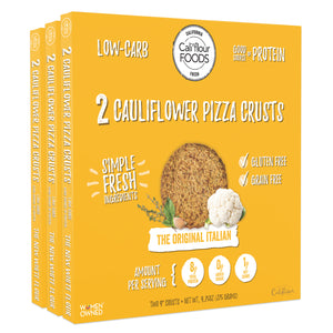 3 pack traditional italian cauliflower pizza crusts