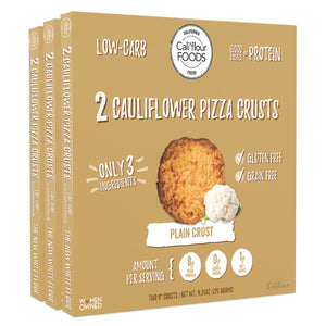 3 pack traditional plain cauliflower pizza crust