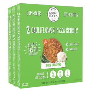 3 pack traditional jalapeño cauliflower pizza crusts