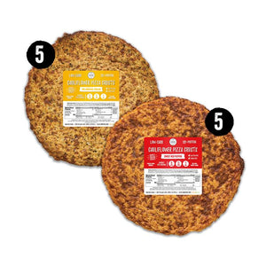 10 piece stack pack - 5 original italian crust and 5 red pepper crusts