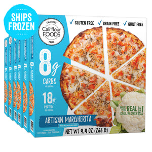6 pack artisan margherita frozen pizza cauliflower crust