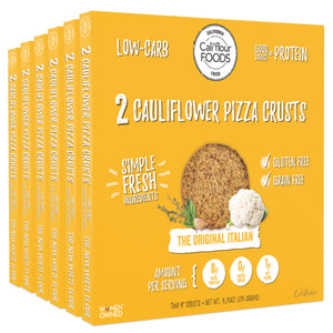 6 pack traditional italian cauliflower pizza crusts