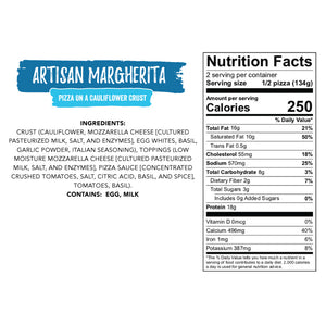 Artisan Margherita Nutrition facts