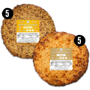 10 piece stack pack - 5 original italian crust and 5 plain crusts