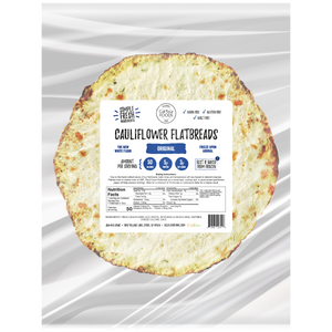 Cali'flour Foods Original Flavored Flatbreads. Made with fresh veggies and cheese
