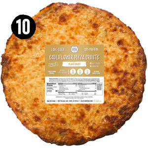 10 piece stack pack - plain cauliflower pizza crusts