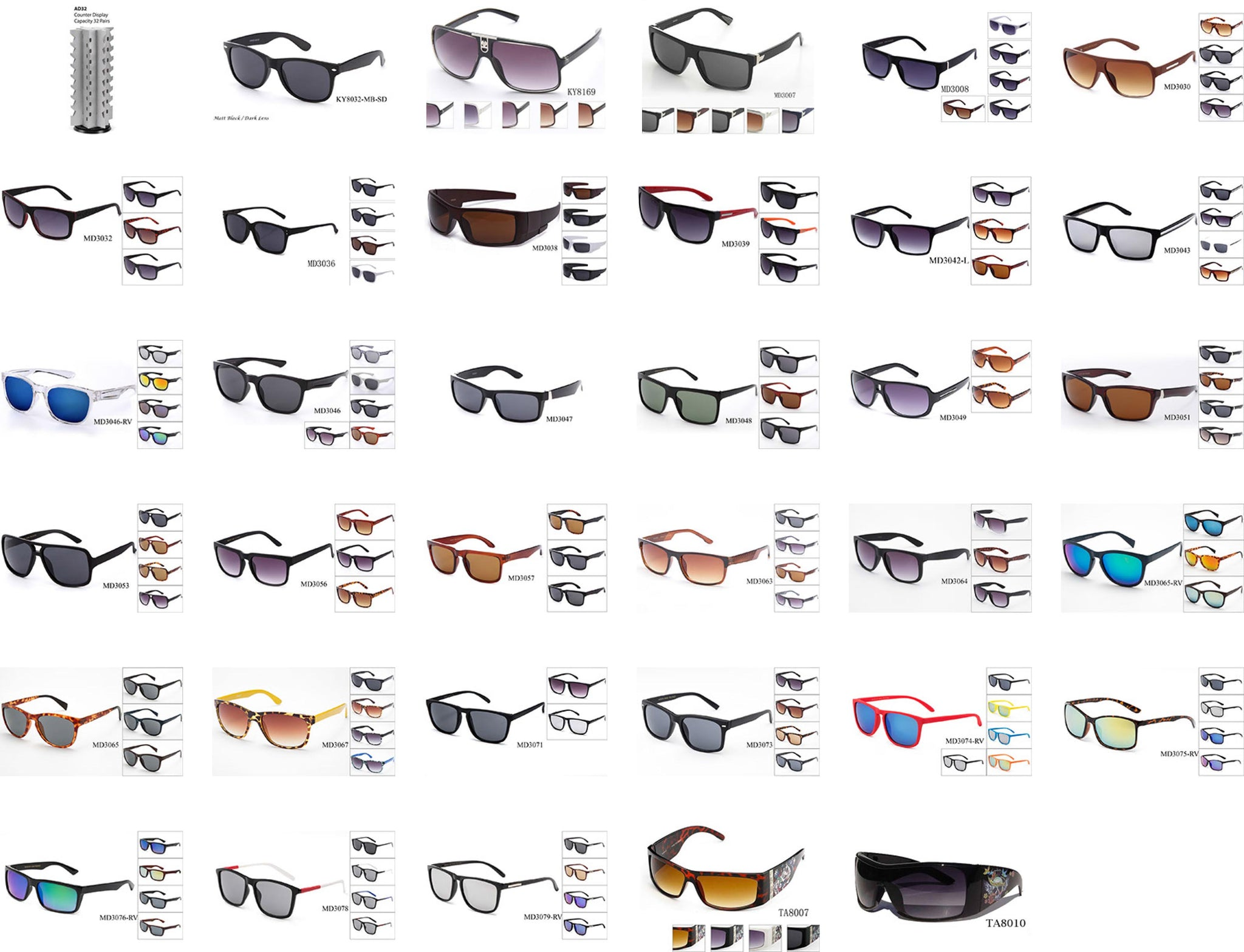 ed2ac13d295e  350 for 25 Dozens Men s Plastic Collection with Paper Display -  GOGOsunglasses