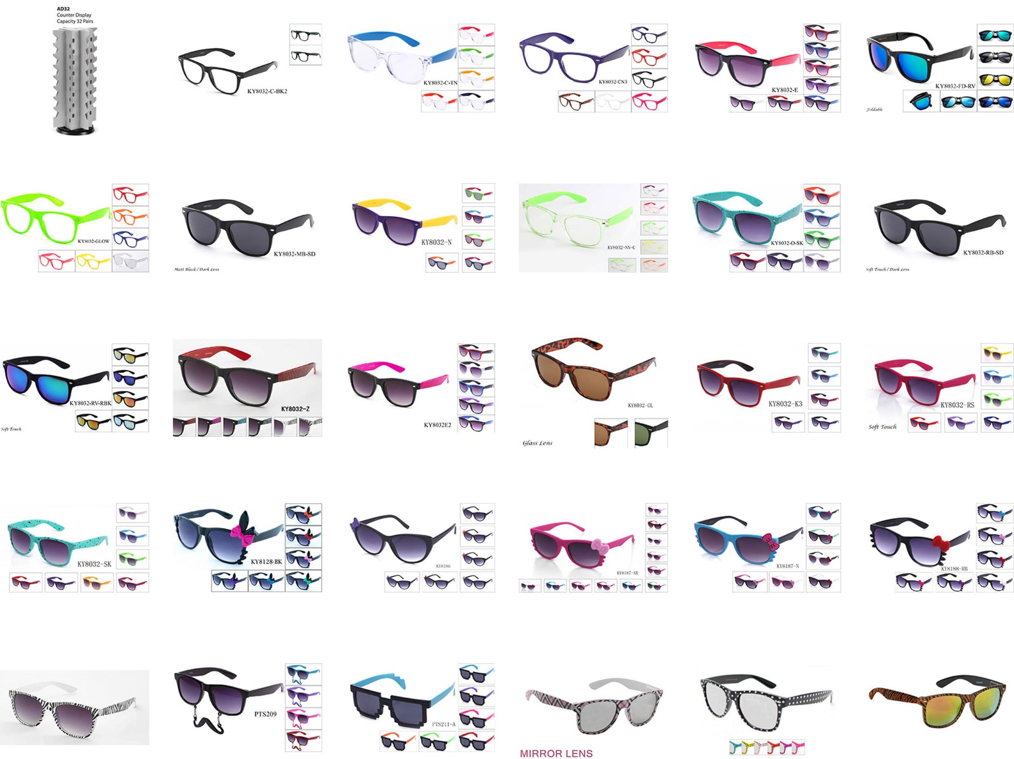 72e18a49ca41  300 Vintage   Bow Style Package 300 Pairs with Paper Display -  GOGOsunglasses