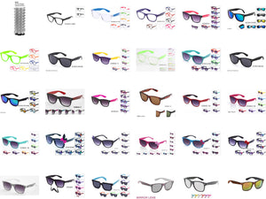 144 Pairs Wayfarer & Bow Style Package with Paper Display $144 - GOGOsunglasses, IG sunglasses, sunglasses, reading glasses, clear lens, kids sunglasses, fashion sunglasses, women sunglasses, men sunglasses