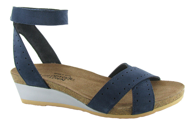Navy Velvet Nubuck/Glass Brown