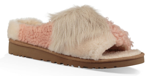 UGG Women's Patchwork Fluff Slide Slipper