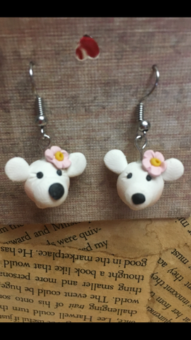Polymer Clay Polar Bear Earrings