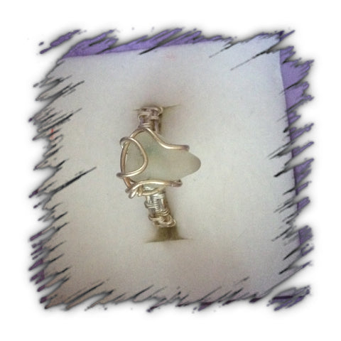 Nome Alaskan Sea glass ring