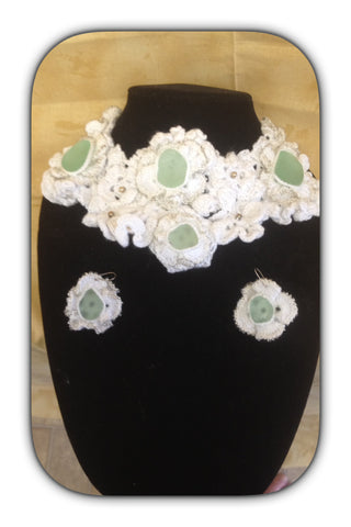 Wedding Necklace and Earring Set.
