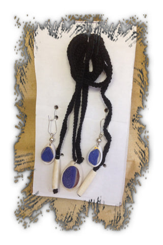 Sea shell Necklace and Earring Set