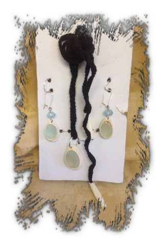 Crocheted Necklace and Earring Sets