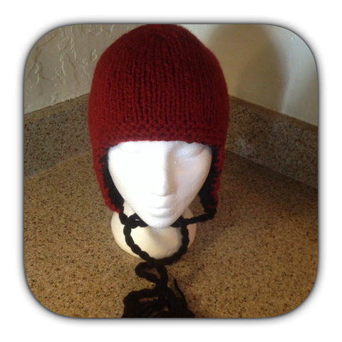 Reversible ear flap hat