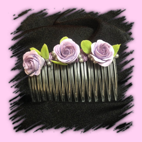 Hair Comb Roses