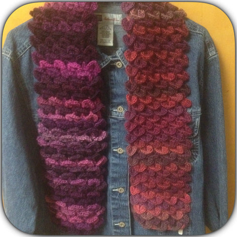 Alligator Stitch Scarf.