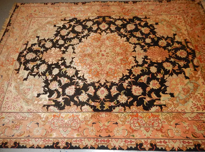 New Fine Persian Tabriz Silk and Wool 1970's