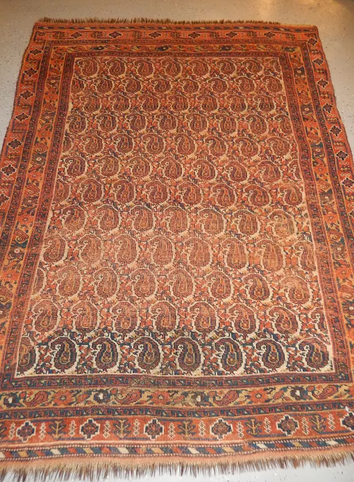 Antique Persian Afshar Distressed 1890's