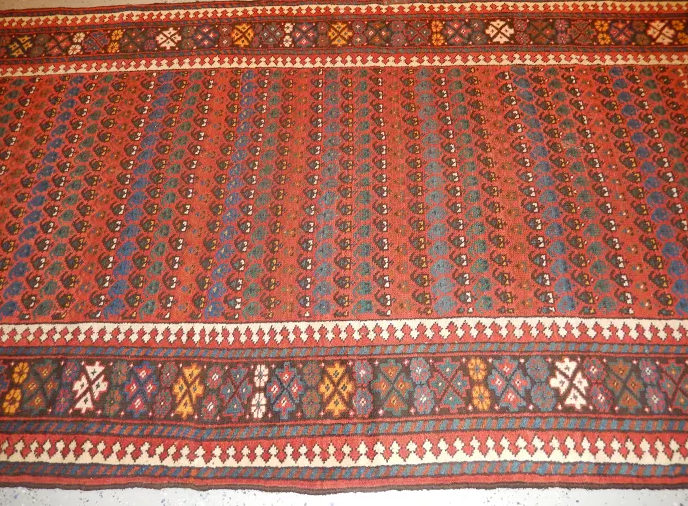Antique NW Persian Rug, Long Runner 1910's