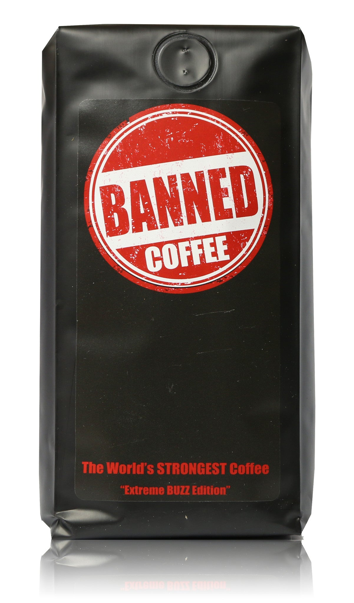 Banned Coffee - The strongest most delicious coffee in the world. Our best blend of arabica and robusta gourmet coffee beans. Smooth and delicious medium dark roast.