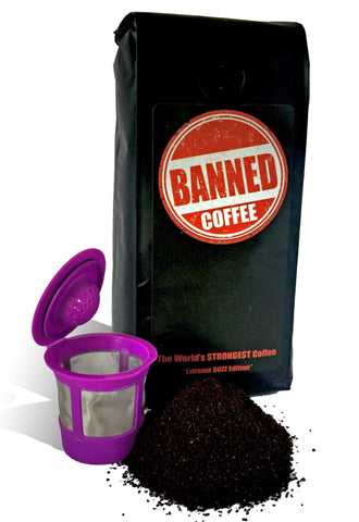 Banned Coffee Keurig K-cup Pack | The World's Strongest Coffee