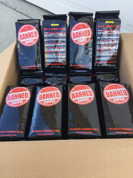 Box of 28 x 1 lb Banned Coffee Whole Bean Wholesale Price