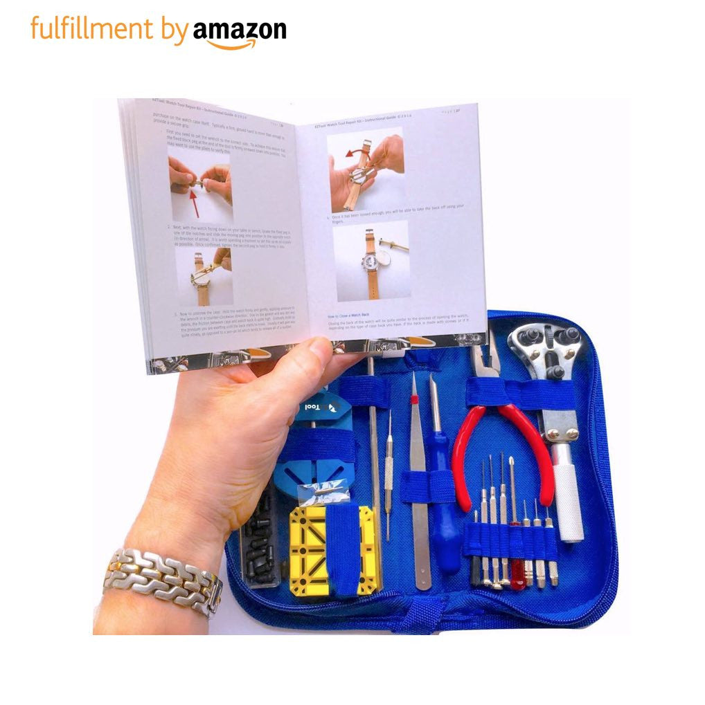 WATCH REPAIR TOOL KIT (Incl. 41-page Instruction Guide)