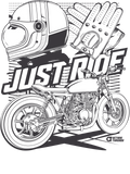 JUST RIDE [CAFERACER] T-SHIRT