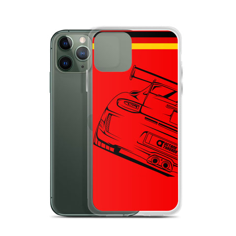 PORSCHE GT3 RS IPHONE CASE ( RED )