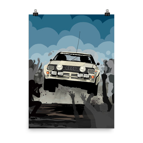 AUDI GROUP B LEGEND WALL ART